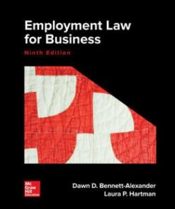 Solution Manual for Employment Law for Business 9th Edition Bennett-Alexander ISBN: 9781259722332