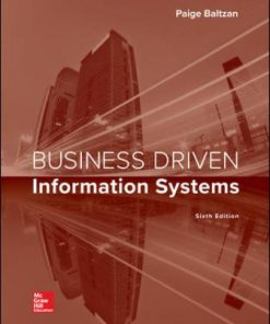 Test Bank for Business Driven Information Systems 6th Edition Baltzan