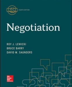 Solution Manual for Negotiation 8th Edition Lewicki