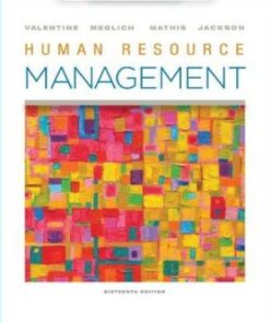 Solution Manual for Human Resource Management 16th Edition Valentine ISBN: 9780357033852