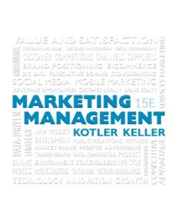 Solution Manual for Marketing Management 15th Edition Kotler ISBN: 9780134058498