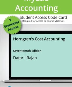 Test Bank for Horngren's Cost Accounting 17th Edition Datar ISBN: 9780135628522