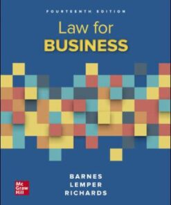 Test Bank for Law for Business 14th Edition Barnes ISBN: 9781260247763