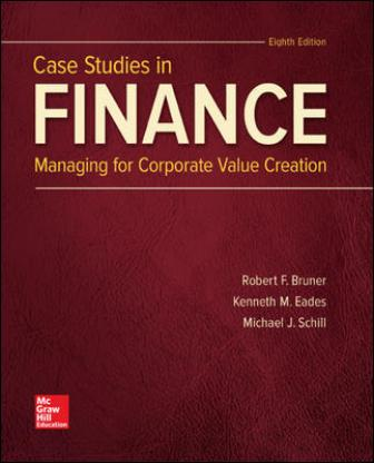 Solution Manual for Case Studies in Finance 8th Edition Bruner ISBN: 9781260427578